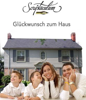 Scriptaculum for Traditionelles geschenk zum neuen haus