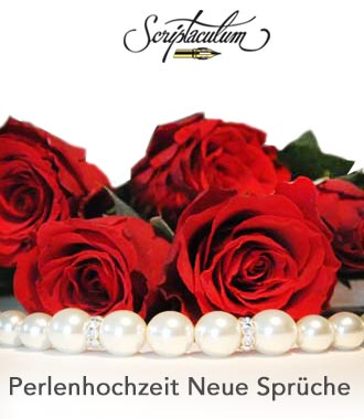 Gedicht Zur Perlenhochzeit