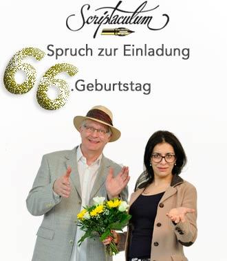 Einladungsspruch 66. Geburtstag