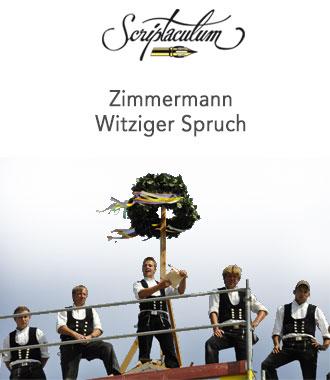 Zimmermann Sprüche Verse