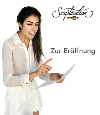 Eröffnung sprüche zur Scriptaculum